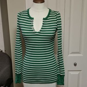 Aerie striped Henley t shirt